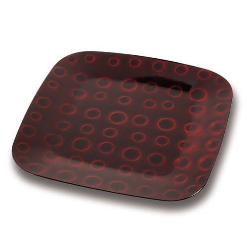 Platou decorativ Nava, diametru 32 cm, rosu inchis thumbnail