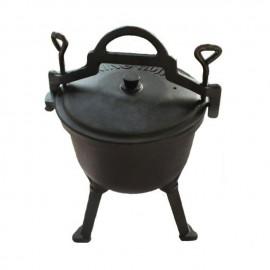Ceaun din fonta pura KingHoff, capacitate 16 litri, diametru 40 cm, capac fonta