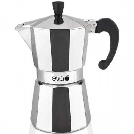 Espressor pentru aragaz Eva Collection, aluminiu, capacitate 2 cupe