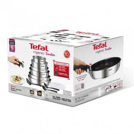 Set vase Tefal Ingenio Emotion, 12 piese, inductie, cod L948SC04, ean 3168430297326