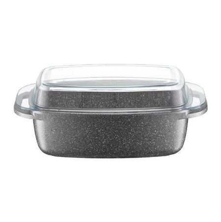 Tava pentru prajit 32x21cm invelis Qualum Basic Stone Silverstone