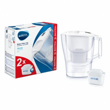 Cana filtranta BRITA Aluna 2,5 L, 2 filtre incluse Maxtra+ (white)
