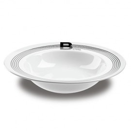 Farfurie pentru salata Nava, portelan, diametru 28,1 cm, seria Lines Black