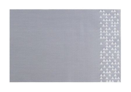 Suport farfurii 30x45cm triunghiuri gri Nordic