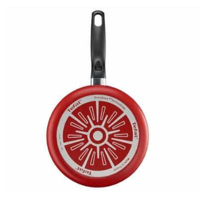 Tigaie pentru clatite cu interior anti-aderent Tefal Essential, diametru 25 cm, rosu