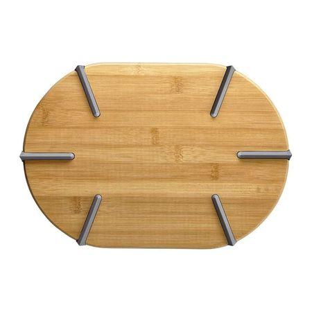 Tocator oval cu silicon bambus 33x23x2cm Greta
