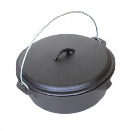 Ceaun (tuci) din fonta pura, capac, diametru 25 cm, capacitate 3.8 Litri, inductie