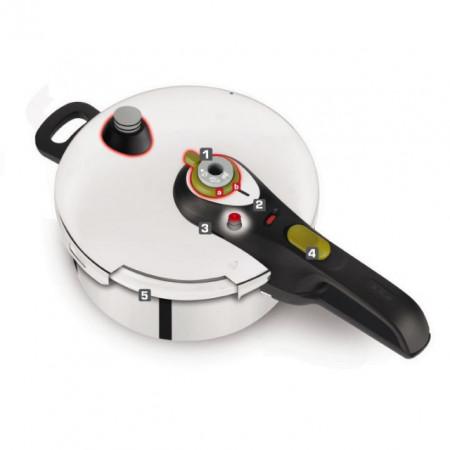 Oala sub presiune Tefal Secure 5 Neo, capacitate 6 litri, inox, argintiu, inductie, cod produs P2530741