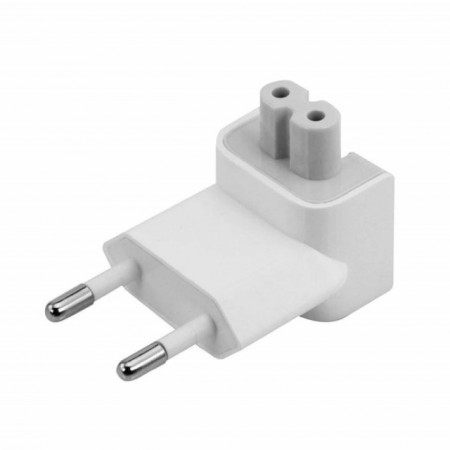 Adaptor priza EU pentru incarcator Apple MacBook Pro, iPad, IPhone, compatibil, culoare alb