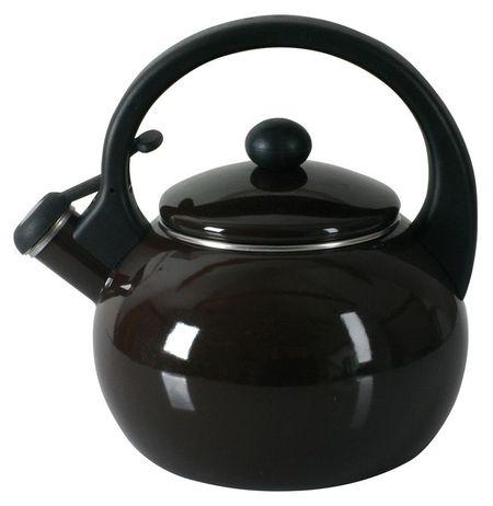 Ceainic din email 2200ml maro Merve