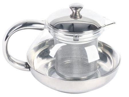 Ceainic sticla cu infuzor 600ml Lux