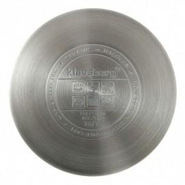 Craticioara inox Klausberg, diametru 16 cm, capacitate 1,7 litri, capac, inductie