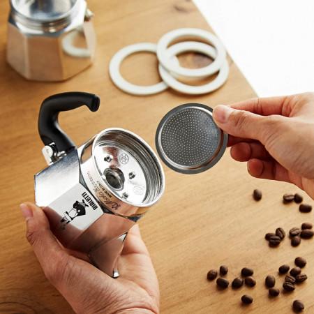 Set 3 garnituri+sita pentru espressor aragaz Bialetti, marime 6 cupe pentru Moka Express, Dama, Break si Moka Timer