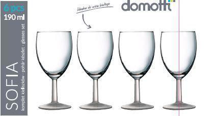 Set 6 pahare vin 190ml Sofia