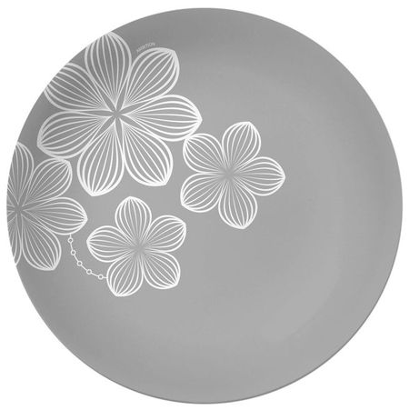 Farfurie adanca 20 cm sticla gri Dream Flower