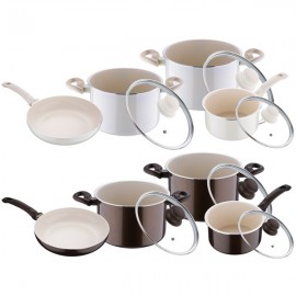 Set oale cu interior ceramica Bergner, 7 piese, inductie, seria Bellini