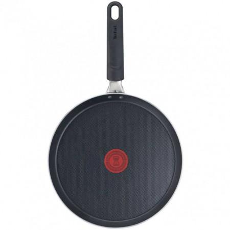 Tigaie pentru clatite cu interior anti-aderent Tefal Simply Clean B5671053, diametru 25 cm, negru