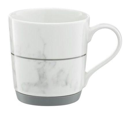 Cana portelan 320ml cu fund Silicon Gri marble