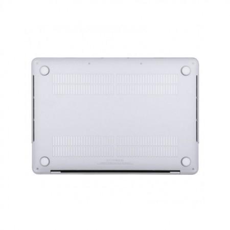Carcasa protectie slim pentru laptop Apple MacBook 12 inch, plastic, transparenta, model 2015-2018
