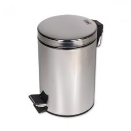 Cos gunoi menaj Z-INOX, material otel inoxidabil, capacitate 5 litri