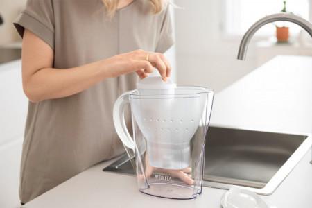 Cana filtranta Brita Marella Cool BR1026441, capacitate 2,4 litri, MAXTRA+, culoare alb