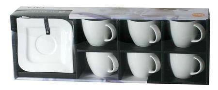 Set cafea/ceai 12 piese, ceasca+suport, 220ml Fala