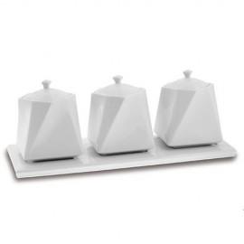 Set de 3 recipiente din portelan Nava