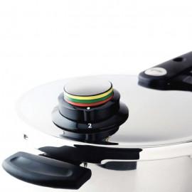 Set oala + tigaie (cratita) sub presiune Fissler VitaVit Comfort, capacitate 4.5 + 2.5 litri, diametru 22 cm, inductie