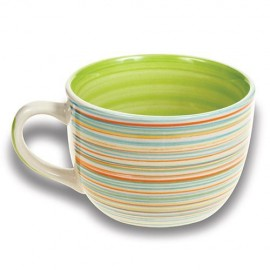 Cana mare din ceramica Nava, capacitate 500 ml, verde