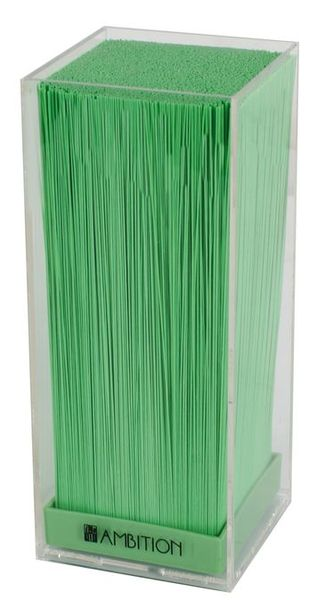 Suport cutite transparent insertie verde