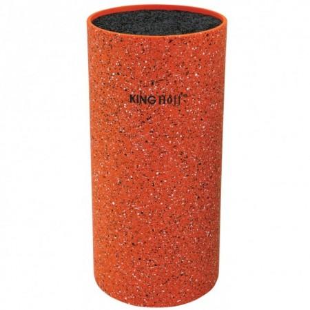 Suport pentru cutite King Hoff KH-1120, inaltime 22 cm, portocaliu