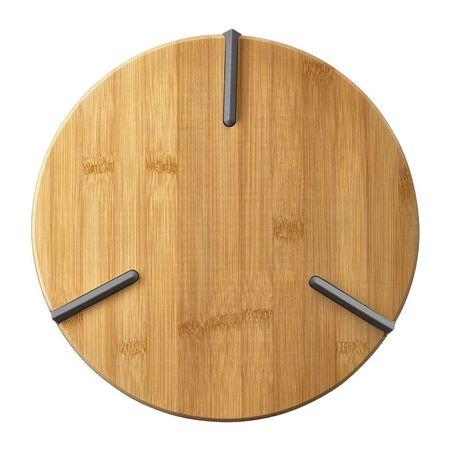 Tocator rotund cu silicon bambus 27x2cm Greta