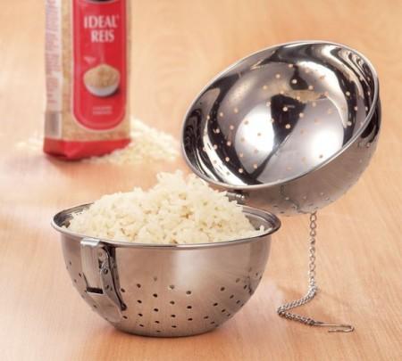 Steamer (sita) pentru orez KingHoff, material inox, diametru 15 cm
