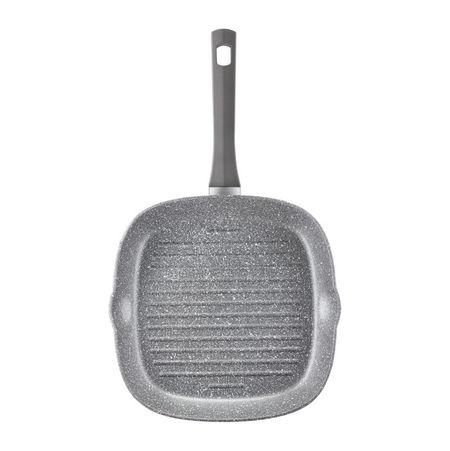 Tigaie grill 26x26cm invelis Qualum Stone Silverstone