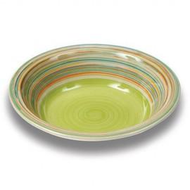 Farfurie pentru supa Nava, ceramica, diametru 21 cm, verde