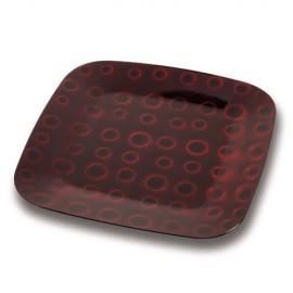 Platou decorativ Nava, diametru 32 cm, rosu inchis
