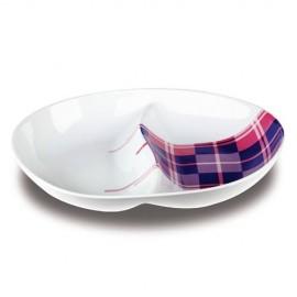 Platou pentru aperitive Nava, portelan, lungime 25,4 cm, seria Carreaux