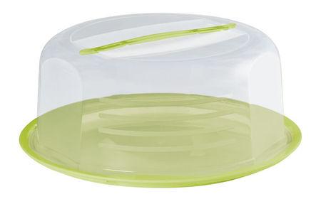Platou rotund pentru prajituri cu capac verde, Dolce, Domotti