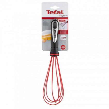 Tel TEFAL Ingenio K2071714, lungime 36 cm, inox, negru-rosu