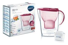 Cana filtranta Brita Marella Cool BR1026448, capacitate 2,4 litri, MAXTRA+, culoare roz