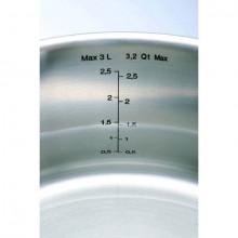 Cratita inox cu capac Tefal Intuition, diametru 18 cm, capacitate 2 litri, inductie, interior gradat