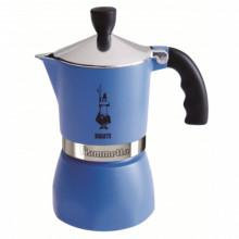 Espressor pentru aragaz Bialetti, capacitate 3 cupe, Seria Fiammetta, albastru