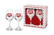 Set 2 Pahare Vin Mrs+Mr Love