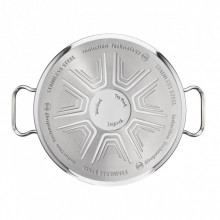 Set oale inox Tefal Duetto A705A835, 7 piese, inox, inductie, interior gradat