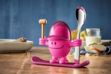 Set suport pentru ou si lingurita WMF McEgg, plastic, roz, cod produs 06 1668 74 00