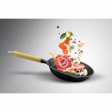 Tigaie din fonta Cooking by Heinner HR-TNJ-5D23, dimensiune 23 cm, maner lemn, inductie