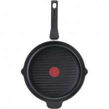 Tigaie grill cu interior anti-aderent Tefal Daily Chef E2374074, diametru 26 cm, inductie