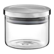 Borcan Sticla 440 ml cu capac Metal Roxy