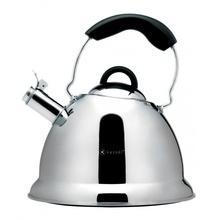 Ceainic cu fluier Kassel, capacitate 2.6 litri, material inox, inductie, seria Amber