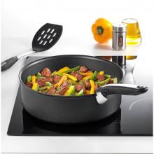 Set wok + cratita 24 cm Tefal Ingenio Essential L2009102, maner detasabil
